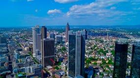 Skyline maravilhosa da vista em Francoforte Fotos de Stock Royalty Free