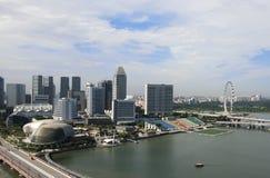 Skyline of the Marina Bay in Singapore. Skyline of the office buildings by the Marina Bay in Singapore royalty free stock photography