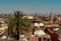 Skyline of Marrakech Royalty Free Stock Image