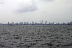 Skyline of megalopolis Mumbai Stock Photo