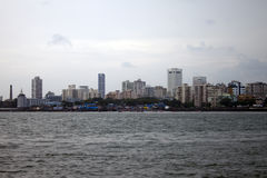 Skyline of megalopolis Mumbai Stock Photos