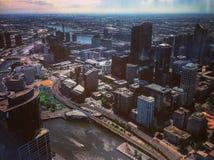 Skyline Melbourne foto de stock royalty free