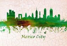 Skyline Mexiko City Mexiko stock abbildung