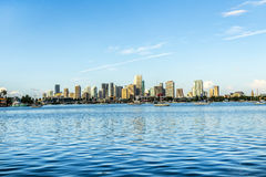 Skyline of Miami Royalty Free Stock Photo