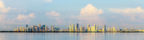 Skyline of Miami Royalty Free Stock Photography