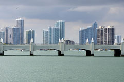 Skyline Miami. This photo was taken in Miami. Miami, at Florida's southeastern tip, is a vibrant city whose Cuban influence is reflected in the cafes and cigar Royalty Free Stock Images