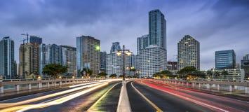 Skyline Miamis Florida Lizenzfreie Stockbilder