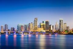 Skyline Miamis, Florida Lizenzfreies Stockfoto