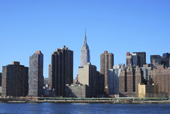 Skyline for Mid-town Manhattan in NYC Royalty Free Stock Image