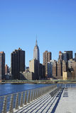 Skyline for Mid-town Manhattan in NYC Royalty Free Stock Images