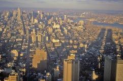 Skyline of Mid-town New York City, NY Stock Photos