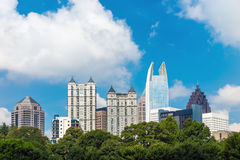 Skyline of midtown Atlanta, Georgia Royalty Free Stock Photo