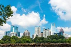 Skyline of midtown Atlanta, Georgia. Skyline  of midtown Atlanta, Georgia  from Piedmont Park Stock Photo