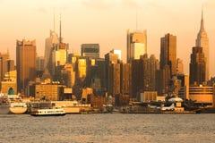 Skyline of midtown Manhattan in New York City Stock Image