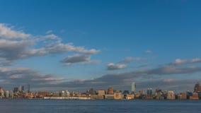 Skyline of midtown  Manhattan of New York City, viewed from New Jersey, USA. Skyline of midtown  Manhattan of New York City, over Hudson River, viewed from New stock photos