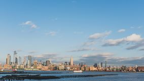 Skyline of midtown  Manhattan of New York City, viewed from New Jersey, USA. Skyline of midtown  Manhattan of New York City, over Hudson River, viewed from New royalty free stock photography
