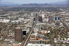 Skyline of MidTown Phoenix Stock Images