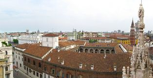 Skyline of Milan Stock Images