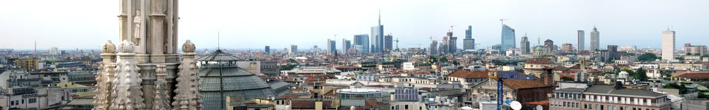 Skyline of Milan Royalty Free Stock Photo