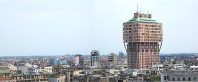 Skyline of Milan stock photo