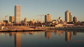 Skyline in Milwaukee, Wisconsin  stock video footage