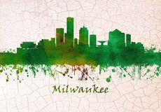 Skyline Milwaukee Wisconsin vektor abbildung