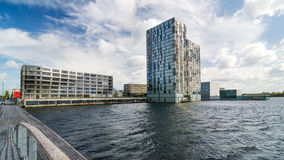 Skyline modern buildings of Almere Stad Royalty Free Stock Photo
