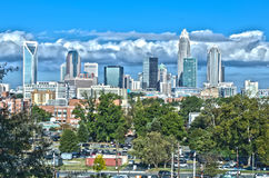 Skyline of a modern city - charlotte, Stock Photos