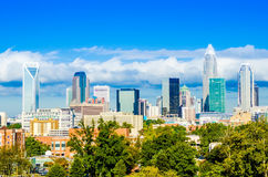 Skyline of a modern city - charlotte, Royalty Free Stock Photography
