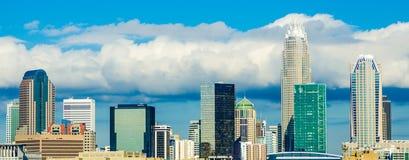 Skyline of a modern city - charlotte, Stock Photo