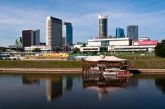 Skyline of Modern City Vilnius. Modern Financial District in Vilnius, Lithuania stock photo