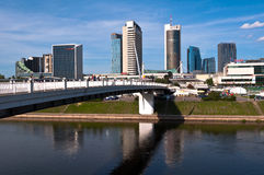Skyline of Modern City Vilnius. Modern Financial District in Vilnius, Lithuania Royalty Free Stock Images