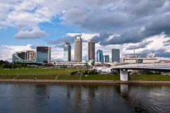 Skyline of Modern City Vilnius. Modern Financial District in Vilnius, Lithuania Stock Photos