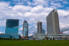 Skyline of Modern City Vilnius. Modern Financial District in Vilnius, Lithuania Royalty Free Stock Image