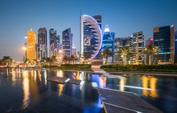 Doha West Bay Stock Photo