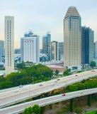 Skyline of modern metropolis, Singapore Stock Photo