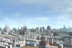 Skyline moderna da cidade Imagem de Stock Royalty Free