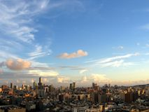 Skyline moderna da cidade Foto de Stock Royalty Free