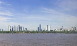 Skyline moderna da cidade de Buenos Aires Fotografia de Stock Royalty Free