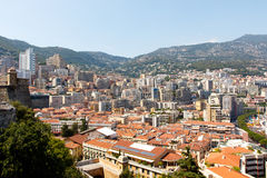 Skyline of Monte Carlo in Monaco Royalty Free Stock Images
