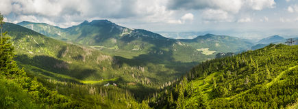 Skyline from a mountain peak in the summer Royalty Free Stock Image