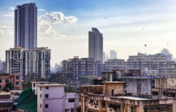 Skyline of Mumbai, India Stock Image