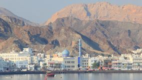 Skyline of Muttrah, Oman stock footage