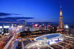 Im Stadtzentrum gelegenes Nagoya Stockbilder