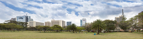 Skyline of Nairobi Royalty Free Stock Photography