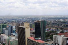 Skyline of Nairobi Kenya Royalty Free Stock Photos