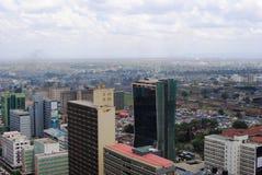 Skyline of Nairobi Kenya. Aerial view of Nairobi the capital city of Kenya Royalty Free Stock Photos