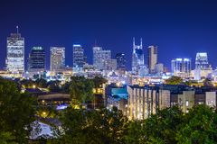 Skyline Nashville-, Tennessee lizenzfreies stockbild