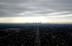 Skyline nebulosa Imagens de Stock Royalty Free