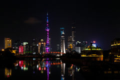 Skyline neuen Bereichs Pudongs, Shanghai, China Stockfoto